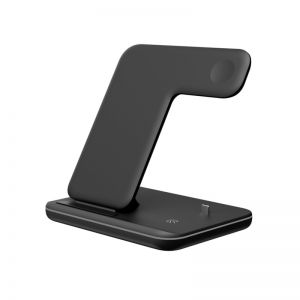 15W Qi Fast Charger 3 in 1 Wireless Charger Stand for iPhone 12/iWatch/TWS Earphones