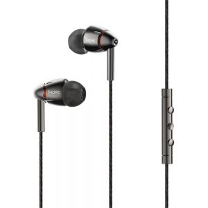 1More E1010 In-Ear Earphones Headphones Earbuds Headset with Mic Wire Control - Grey
