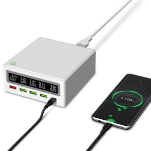 5-in-1 Multi-function Charger with LCD Display QC 3.0 Interface + 3 USB Ports + PD 65W Port
