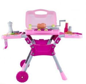 Plastic Barbecue Grill Play Set with Light and Sound