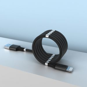 8 Pin Magnetic Absorption Charging Data Cable Fast Charging USB Cable for iPhone