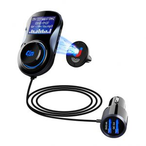BC30BQ Car Bluetooth 4.1+EDR MP3 Player Hands-Free FM Transmitter Car Charger