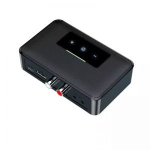 BT19 Bluetooth 5.0 Wireless Transmitter Receiver 3.5mm AUX NFC to 2 RCA Audio Adapter for PC TV and Car Speaker