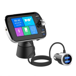 DAB004 Bluetooth 4.2 FM Transmitter Dual USB Car Charger Mp3 Player