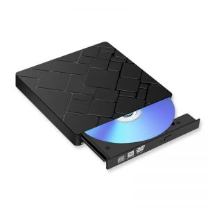 External DVD Burner Type C + USB 3.0 Optical Drive for Laptop PC