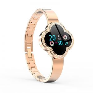 Four Leaf Clover Smart Watch Bracelet Band Stainless Steel Band