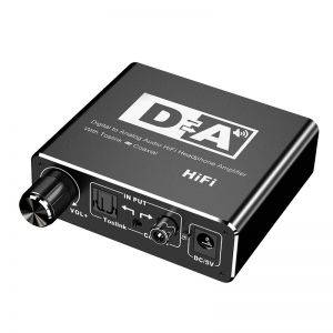 HiFi DAC Amp Digital to Analog Audio Converter RCA 3.5mm Headphone Optical Amplifier Toslink Coaxial Output