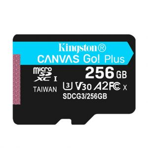 Kingston Canvas Go Plus MicroSD Card 256GB Memory Card Up to 170MB/s Read Speed