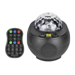 LED Night Light Galaxy Ocean Wave Projector Bluetooth Music Speaker