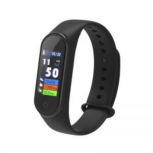 M4 Smart Bracelet 0.96 Inch Color Touch Screen Fitness Wristband Heart Rate Blood Pressure Monitor