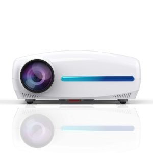 S4 Android 9.0 Smart LCD Projector Support 4K HDMI - 2GB+32GB White