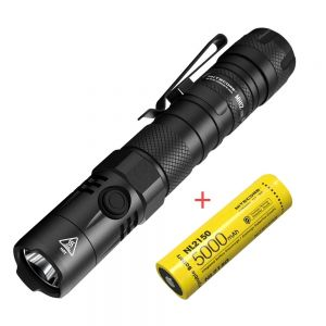 Nitecore MH12 V2 1200 Lumens USB-C Rechargeable Tactical LED Flashlight with 5000mAh Battery