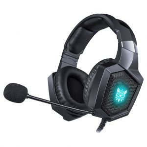 ONIKUMA K8 Gaming Headset with Noise Reduction Mic and LED Light