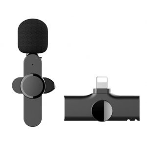 Portable Wireless Microphone with Clip for iPhone Youtubers Facebook Livestream
