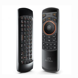 Rii Mini i25 2.4Ghz Wireless Air Mouse QWERTY Keyboard IR Learning Remote Control
