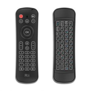 Rii MX6 2.4Ghz Wireless Air Mouse Keyboard with IR Remote Control/Mic/Backlit