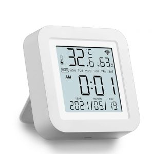 RSH-TH02 WiFi Thermometer Hygrometer with LCD Display Monitor Works with Alexa Google Assistant
