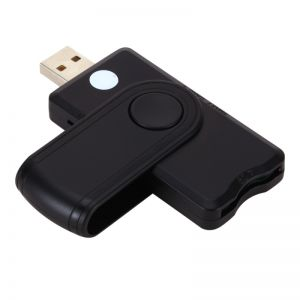 USB Smart Card Reader Bank Card Adapter with Micro SD/TF Slot Compatible with Windows
