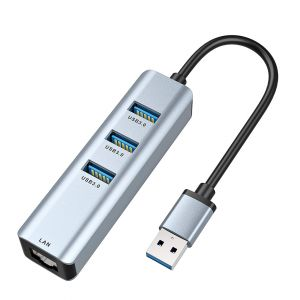 USB to Ethernet Adapter Hub with 3 USB3.0 Interfaces