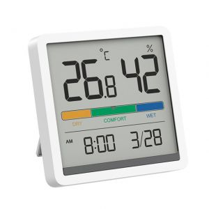 """Xiaomi Youpin Miiiw Mute Temperature and Humidity Clock with 3.34"""" LCD Screen"""